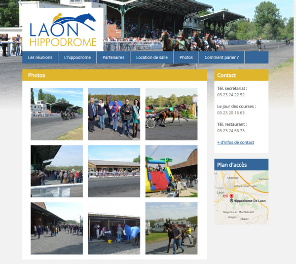 Création site hippodrome de Laon